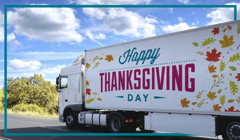 Truckers account for a major part in ensuring Thanksgiving and Black Friday go smoothly.