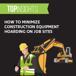 How to minimize construction equipment hoarding on job sites