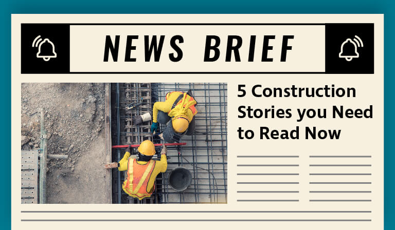 The construction industry is rapidly evolving and here are top 5 stories to know before 2019 comes