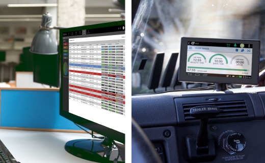 Teletrac Navman DIRECTOR dashboards for desktop and in-cab